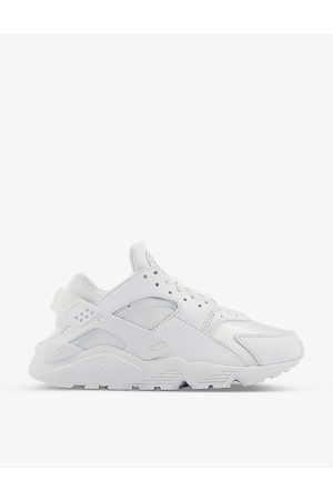 Nike Air Huarache faux-leather and woven trainers