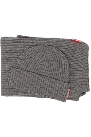 Dsquared2 Ribbed-knit Cotton-blend Scarf And Hat Set - Mens