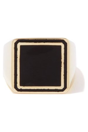Lauren Rubinski Enamel & 14kt Gold Signet Ring - Womens