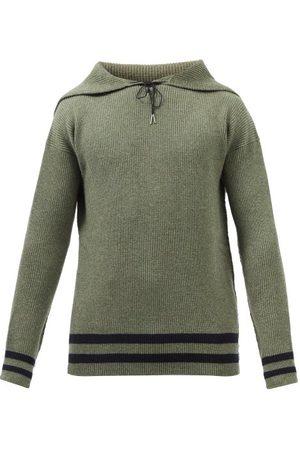 Maison Margiela Men Jumpers - Sailor-collar Wool Sweater - Mens