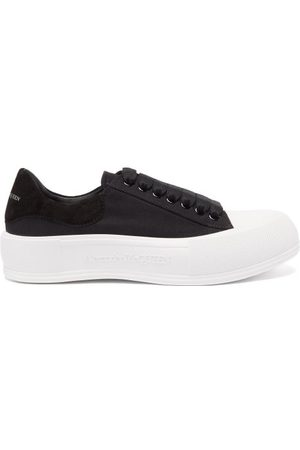 Alexander McQueen Deck Canvas And Suede Trainers - Womens - /
