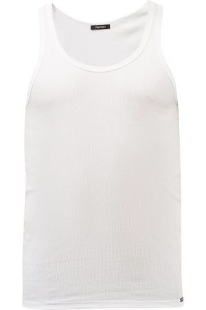 Tom Ford Logo-label Ribbed Cotton And Modal Jersey Vest - Mens