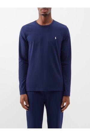 Polo Ralph Lauren Logo-embroidered Cotton-jersey Pyjama Top - Mens - Navy