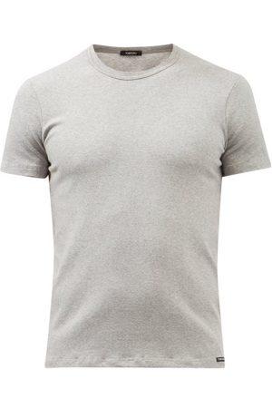 Tom Ford Logo-label Cotton-blend Jersey Pyjama Top - Mens