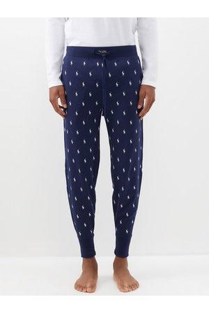 Polo Ralph Lauren Logo-print Cotton-jersey Pyjama Trousers - Mens - Navy