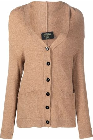 Jean Paul Gaultier 1990s V-neck knitted cardigan