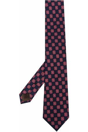 Church's Men Bow Ties - Geometric print silk tie