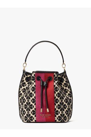 Kate Spade Women Handbags - Spade Flower Jacquard Stripe Medium Bucket Bag
