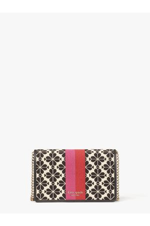 Kate Spade Spade Flower Jacquard Stripe Chain Wallet