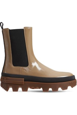Moncler 30mm Coralyne Leather Chelsea Boots