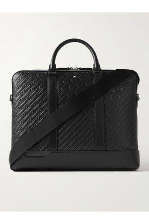 Montblanc Men Laptop & Business Bags - Logo-Debossed Leather Briefcase