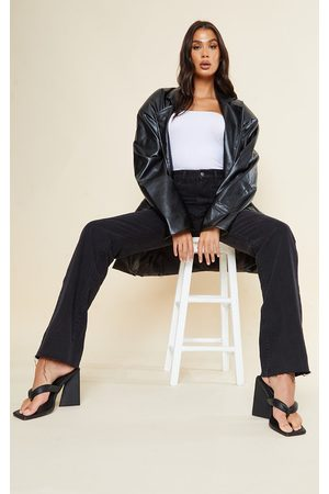 PRETTYLITTLETHING Tall Washed Long Leg Straight Jeans
