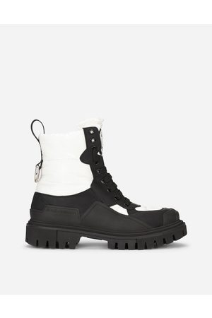 Dolce & Gabbana Women Outdoor Shoes - Boots and Booties - Rubberized calfskin and nylon hi-trekking boots female 36.5