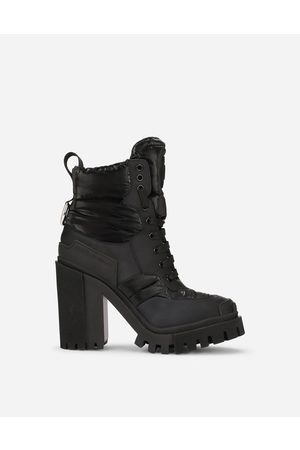 Dolce & Gabbana Women Outdoor Shoes - Boots and Booties - Rubberized calfskin and nylon hi-trekking boots female 35