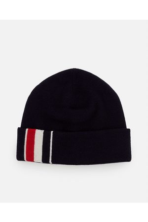 Thom Browne SUSTAINABLE MERINO WOOL KNIT BEANIE HAT size One Size