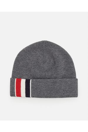 Thom Browne Men Beanies - SUSTAINABLE MERINO WOOL KNIT BEANIE HAT size One Size