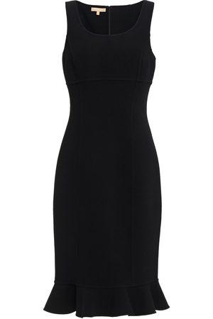 Michael Kors Woman Fluted Wool-blend Crepe Dress Size 0