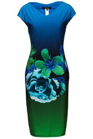 Roberto Cavalli Woman Dégradé Floral-print Jersey Dress Size 38