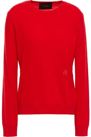 Maje Women Jumpers - Woman Moana Embroidered Cashmere Sweater Size 1