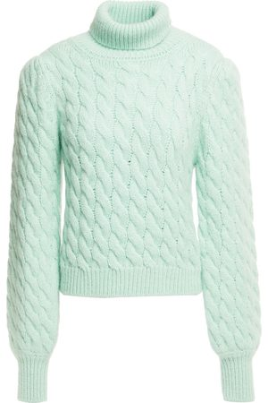 Paul & Joe Women Turtlenecks - Woman Cable-knit Turtleneck Sweater Mint Size 0