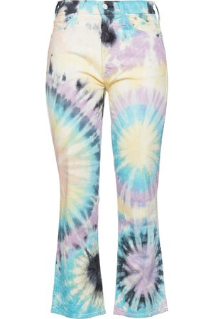 Mother Women Bootcut - Woman Tie-dyed High-rise Kick-flare Jeans Multicolor Size 24