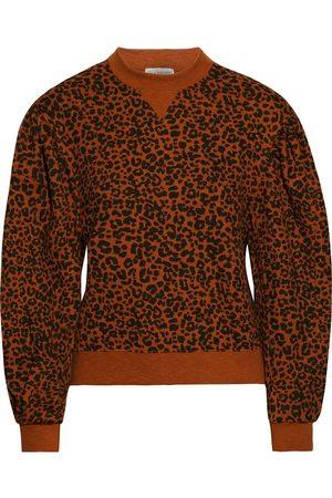 ULLA JOHNSON Woman Lula Leopard-print French Cotton-terry Sweatshirt Tan Size L