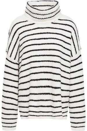 ATM Anthony Thomas Melillo Women Turtlenecks - Woman Striped Fleece Turtleneck Sweater Size L