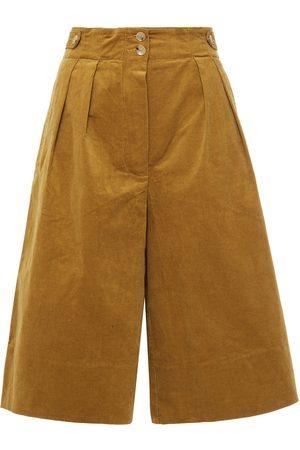 Antik Batik Women Shorts - Woman Mona Cotton-blend Corduroy Shorts Camel Size 36