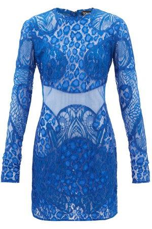 Tom Ford Leopard Chantilly-lace Mini Dress - Womens