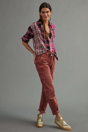 Pilcro and the Letterpress Women Trousers - Pilcro The Wanderer Corduroy Trousers