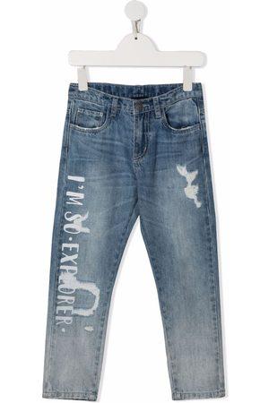 MONNALISA Boys Slim - Explorer-print slim-fit jeans