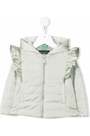 MONNALISA Ruffle-trimmed puffer jacket
