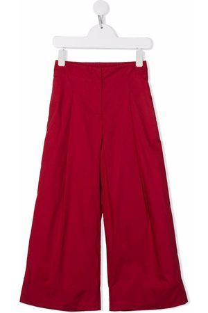 MONNALISA Wide-leg cotton trousers