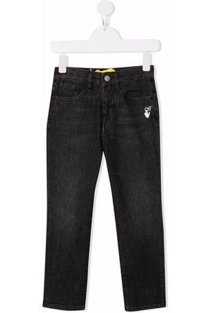 OFF-WHITE Slim-Diag logo-print jeans