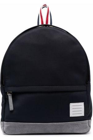 Thom Browne Boys Rucksacks - Patch-detail backpack - 415 Navy