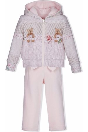 Lapin House Knit-print hoodie tracksuit