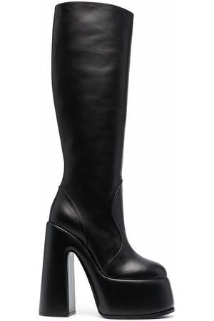 Casadei Women Platform Boots - Platform leather boots