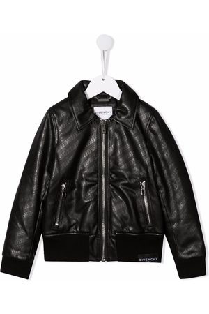 Givenchy Chain-print faux-leather jacket