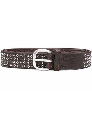 Orciani Stud-embellished leather belt