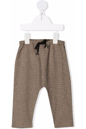 Babe And Tess Trousers - Check-print trousers - Neutrals