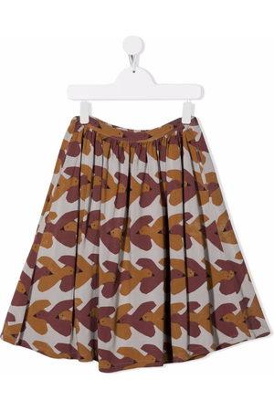 Bobo Choses Girls Printed Skirts - All-over swallows-print midi skirt
