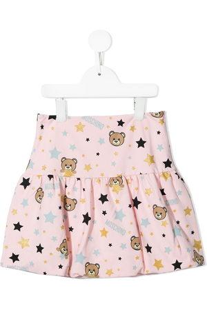 Moschino Teddy Bear-print tiered miniskirt