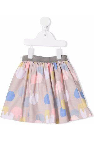 KNOT Girls Printed Skirts - Abstract print skirt - Neutrals
