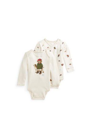 Ralph Lauren Rompers - Polo Bear Cotton Bodysuit 2-Pack