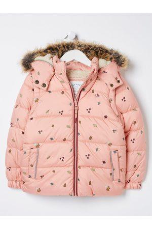 FatFace Girls Elsie Zip Off Sleeve Coat - Blossom