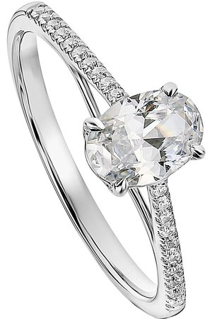 Created Brilliance Elena 9Ct White Gold Oval 0.75Ct Lab Grown Diamond Engagement Ring