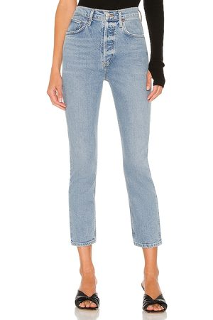 AGOLDE Riley High Rise Straight Crop in . Size 24, 25, 26, 27, 28, 29, 30, 31, 32, 33, 34.