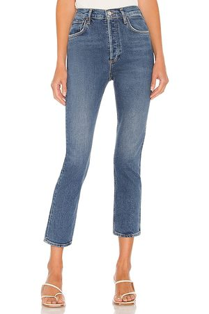 AGOLDE Women Straight - Riley High Rise Straight Crop in . Size 24, 25, 26, 27, 28, 29, 30, 31, 32, 33, 34.
