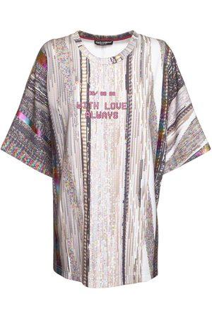 Dolce & Gabbana Cotton Jersey Technicolor Print T-shirt