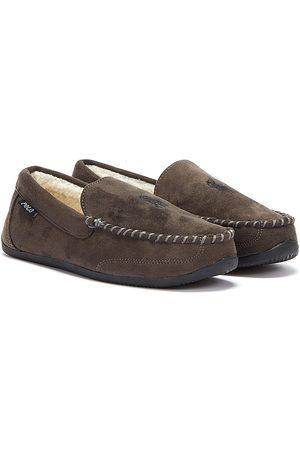 Ralph Lauren Declan Mens Charcoal Slippers